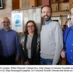 de gauche à droite: Walter Fleuristil, Clément Roy, Julie Ostiguy, Hugo Beauregard de l'UPA-DI, Germain Toouchette. Photo prise au déjeuner annuel 2019